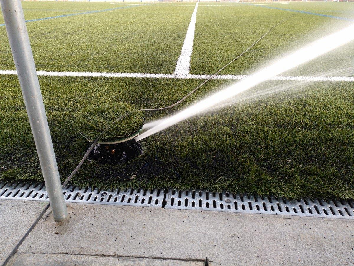 Red de riego de campo de fútbol prueba 2